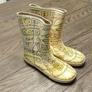 Coach Rain Boots Size 10